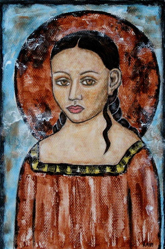 Paintings Poster featuring the painting Esther by Rain Ririn