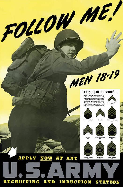 Army Poster featuring the painting Join The Us Army by War Is Hell Store