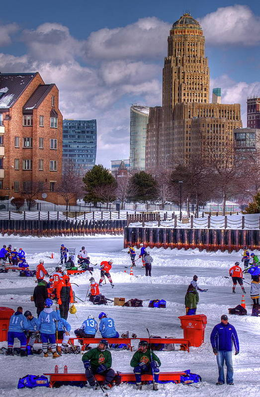 Buffalo Poster featuring the photograph Labatt Pond Hockey 2011 by Don Nieman