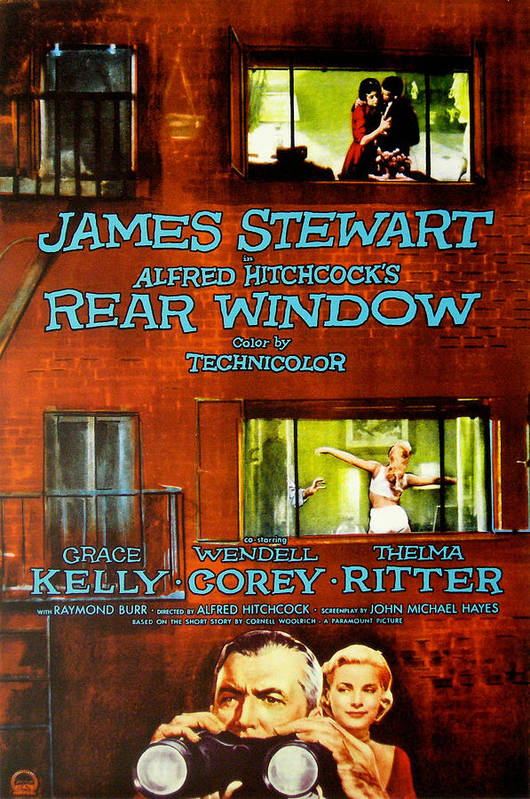 1950s Poster Art Poster featuring the photograph Rear Window, Grace Kelly, James by Everett