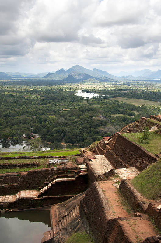 Ancient Poster featuring the photograph Sigiriya Ruins by Jane Rix