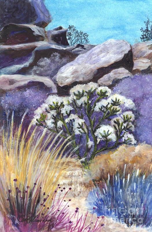Desert Poster featuring the painting The Joshua Tree by Carol Wisniewski