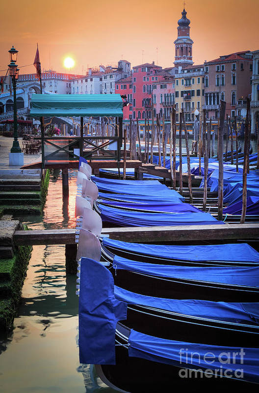 Canal Grande Poster featuring the photograph Venice Sunrise by Inge Johnsson