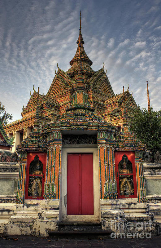 Ancient Poster featuring the photograph Wat Pho by Buchachon Petthanya