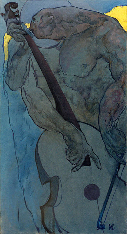 Nude Poster featuring the painting Jan 2 by Valeriy Mavlo