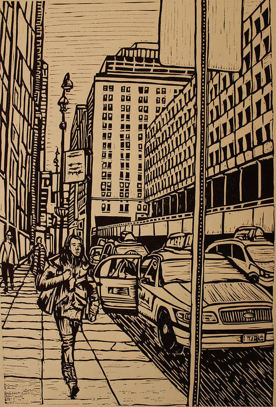 Nyc Poster featuring the drawing Manhattan by William Cauthern