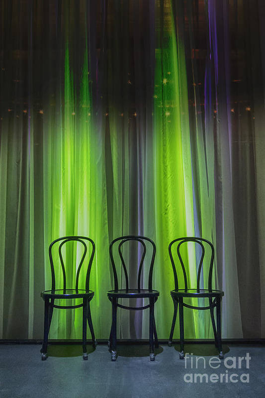 Chairs Poster featuring the photograph Three by Margie Hurwich