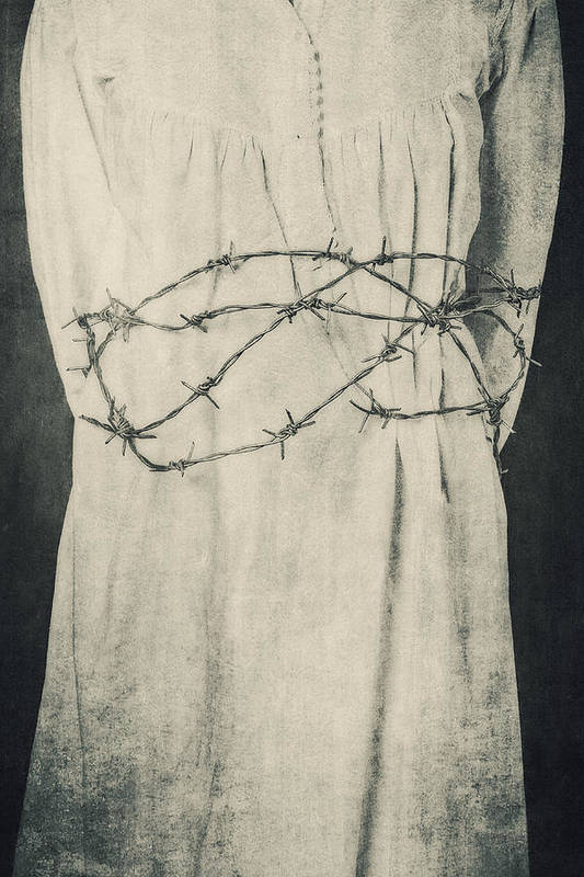 Girl Poster featuring the photograph Barbed Wire by Joana Kruse