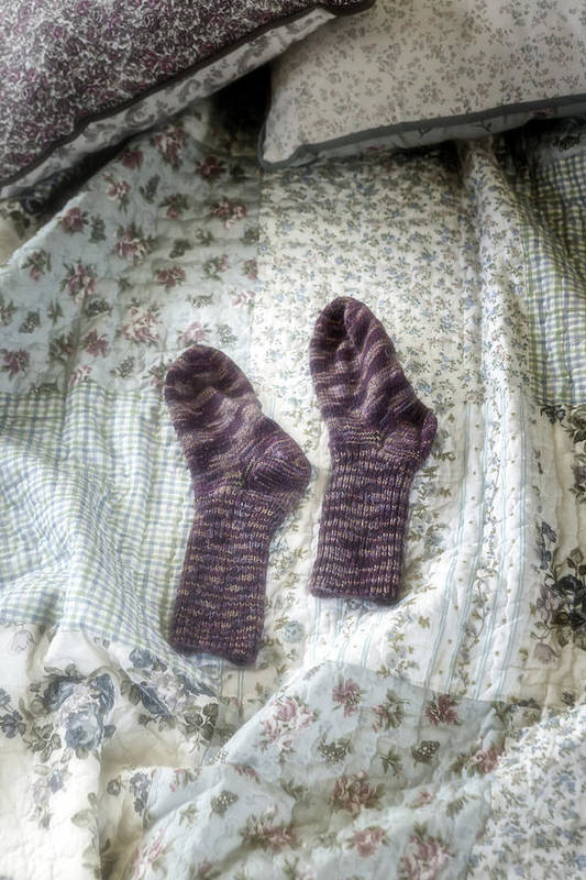 Hand-knitted Poster featuring the photograph Woollen Socks by Joana Kruse
