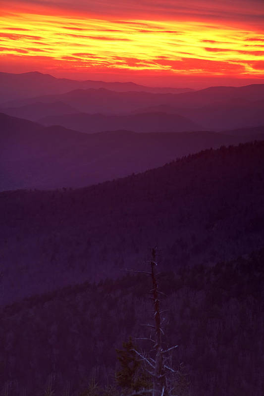 Smokies Poster featuring the photograph Smokies Sunset by Andrew Soundarajan