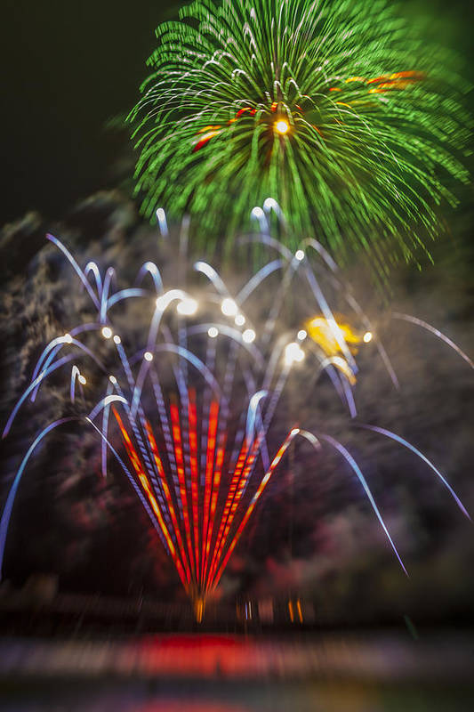 Fireworks Poster featuring the photograph 4th Of July Through The Lens Baby by Scott Campbell
