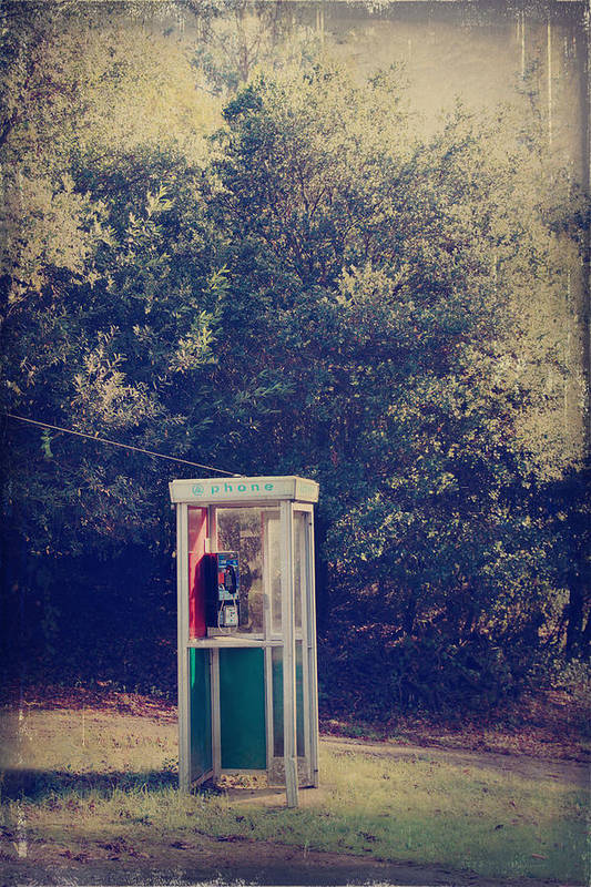 Phone Booths Poster featuring the photograph A Phone In A Booth? by Laurie Search