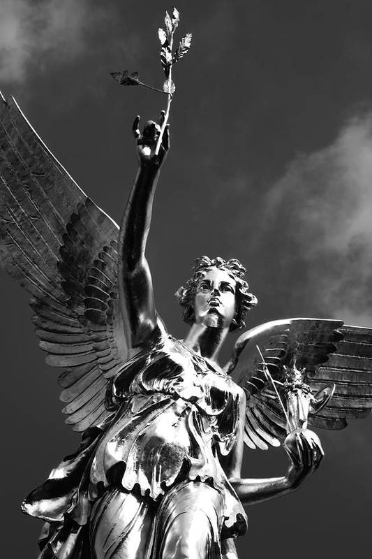 Monument Poster featuring the photograph Angel Of Peace by Marc Huebner