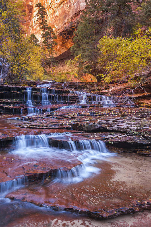 Arch Poster featuring the photograph Arch Angel Cascades by Joseph Rossbach