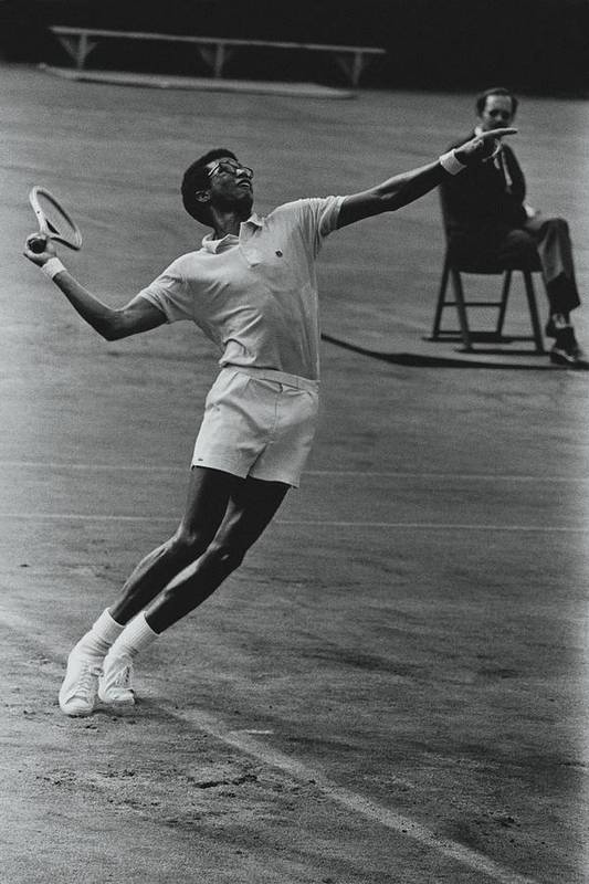 Sport Poster featuring the photograph Arthur Ashe Playing Tennis by Jack Robinson