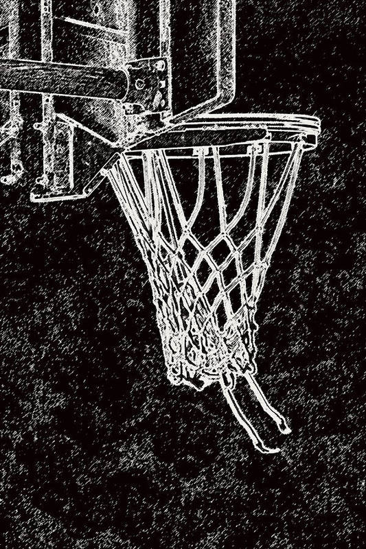 Sports Poster featuring the photograph Basketball Years by Karol Livote