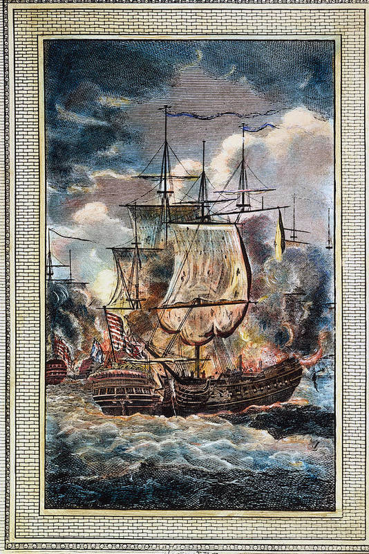 1779 Poster featuring the photograph Bonhomme Richard, 1779 by Granger