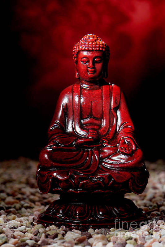 Buddha Poster featuring the photograph Buddha Statue Figurine by Olivier Le Queinec