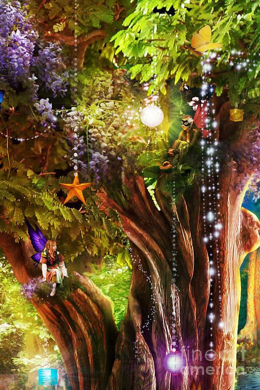 Aimee Stewart Poster featuring the digital art Butterfly Ball Tree by Aimee Stewart