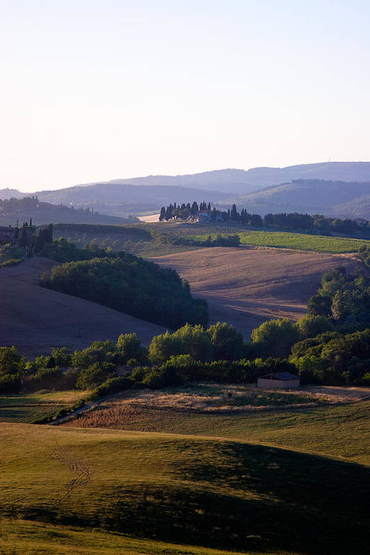 Italy Poster featuring the photograph Chianti Hills In Tuscany by Mathew Lodge