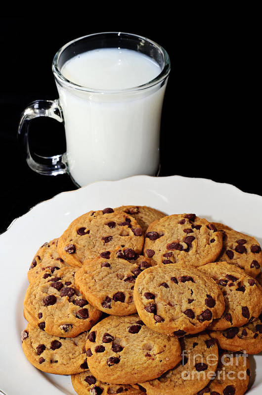 Cookies Poster featuring the photograph Cookies - Milk - Chocolate Chip - Baker by Andee Design