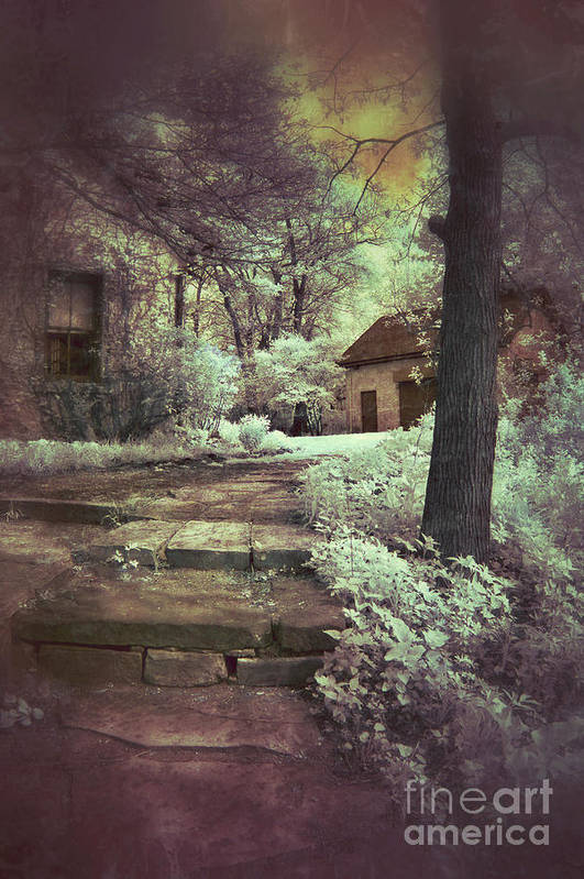 Cabin Poster featuring the photograph Cottages In The Woods by Jill Battaglia