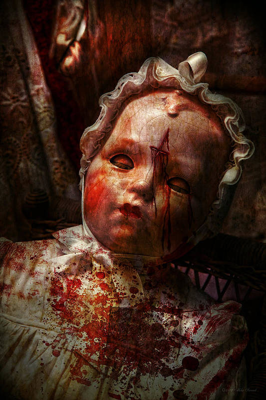 Doll Poster featuring the photograph Creepy - Doll - It's Best To Let Them Sleep by Mike Savad