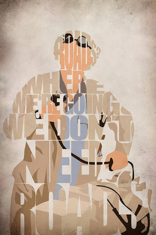 Bttf Poster featuring the painting Doc. Brown by Ayse Deniz