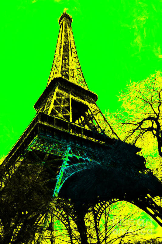 Europe Poster featuring the photograph Eiffel 20130115v2 by Wingsdomain Art and Photography