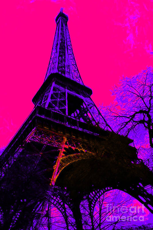 Europe Poster featuring the photograph Eiffel 20130115v3 by Wingsdomain Art and Photography