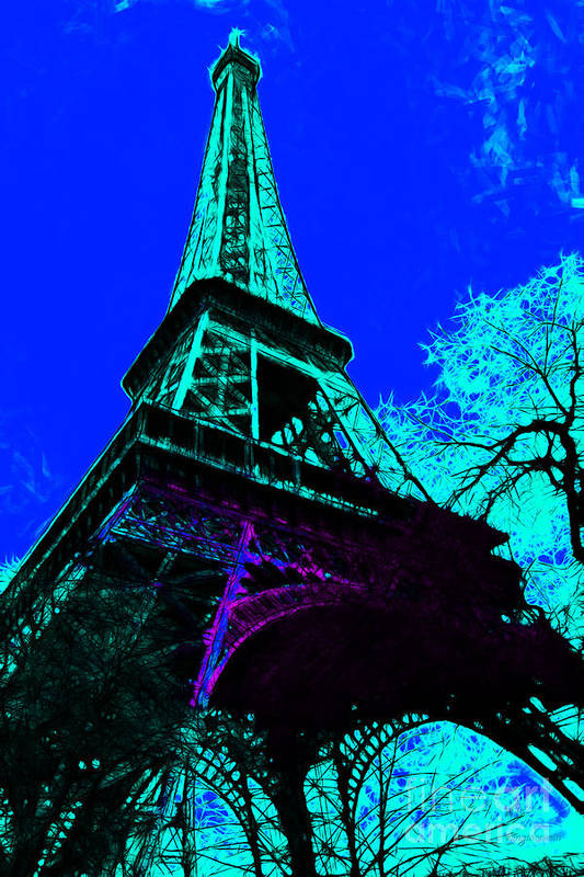 Europe Poster featuring the photograph Eiffel 20130115v4 by Wingsdomain Art and Photography