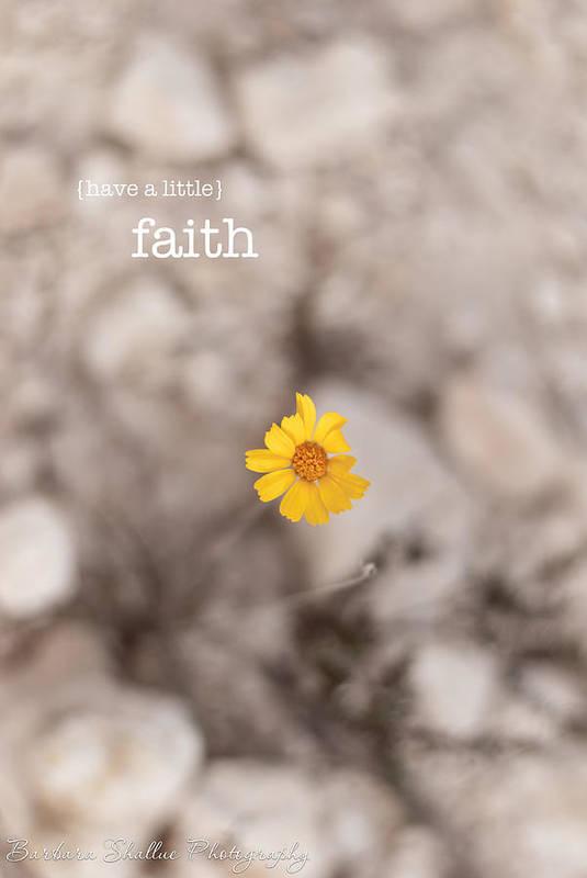 Faith Poster featuring the photograph Faith by Barbara Shallue