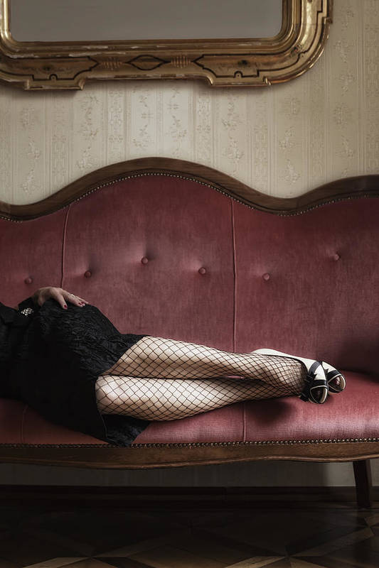 Lady Poster featuring the photograph Fishnet Tights by Joana Kruse