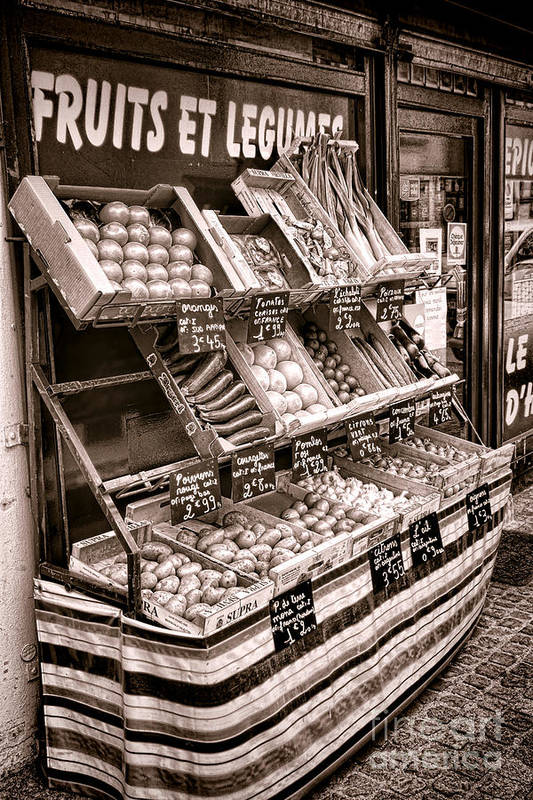 France Poster featuring the photograph Fruits Et Legumes by Olivier Le Queinec