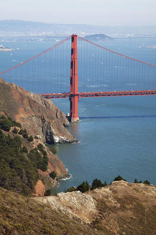 American Poster featuring the photograph Golden Gate Bridge II by Jenna Szerlag