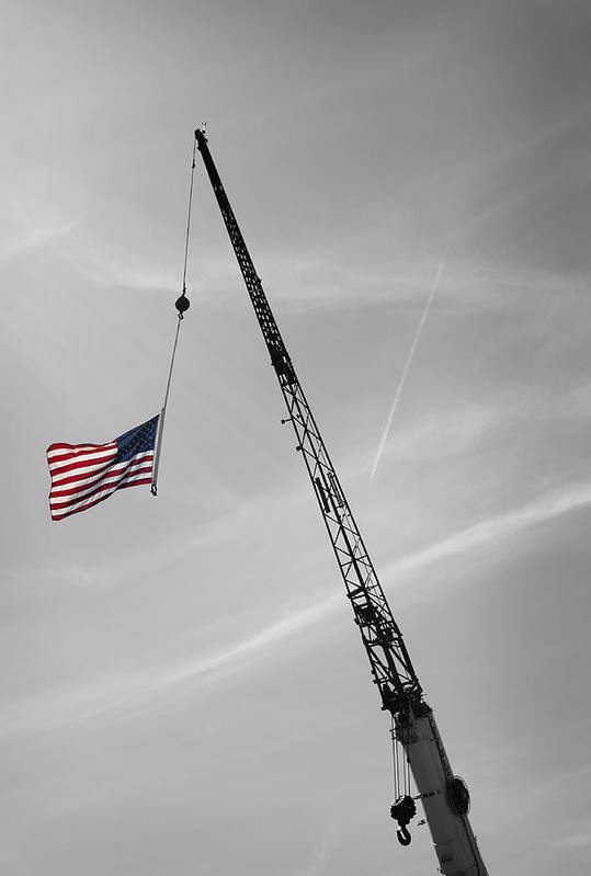 Flag Poster featuring the photograph Half-mast by Luke Moore