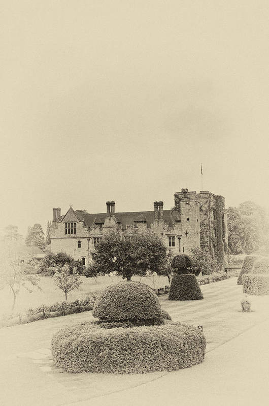 Architecture Poster featuring the photograph Hever Castle Yellow Plate 2 by Chris Thaxter