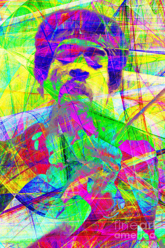 Jimi Poster featuring the photograph Jimi Hendrix 20130613 by Wingsdomain Art and Photography