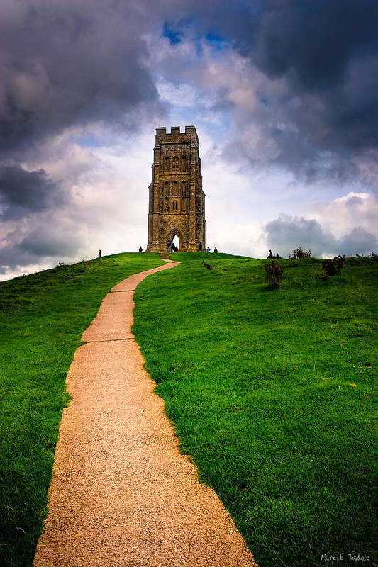 Glastonbury Tor Poster featuring the photograph Legends Of Glastonbury Tor - Avalon by Mark E Tisdale