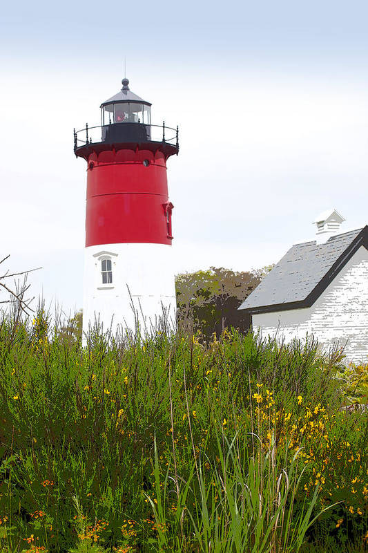 Nauset Light Poster featuring the photograph Lighthouse Of Memories by Michelle Wiarda