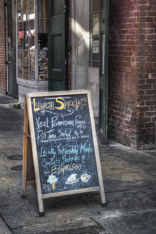 French Quarter Poster featuring the photograph Lunch Specials by Brenda Bryant