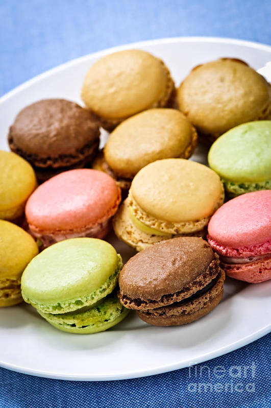 Macaroons Poster featuring the photograph Macaroon Cookies by Elena Elisseeva
