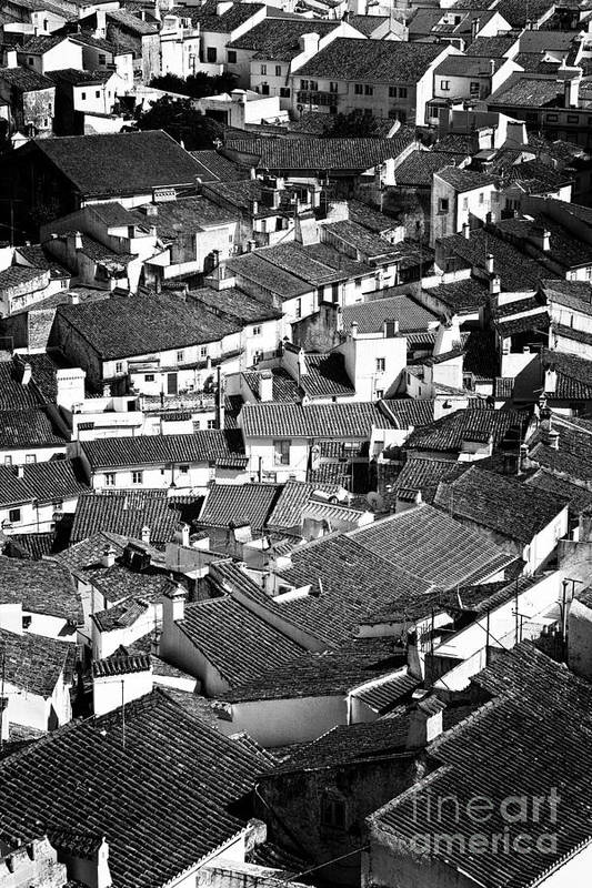 Cityscape Poster featuring the photograph Medieval Town Rooftops by Jose Elias - Sofia Pereira