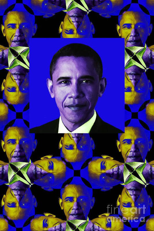 Politic Poster featuring the photograph Obama Abstract Window 20130202verticalm118 by Wingsdomain Art and Photography