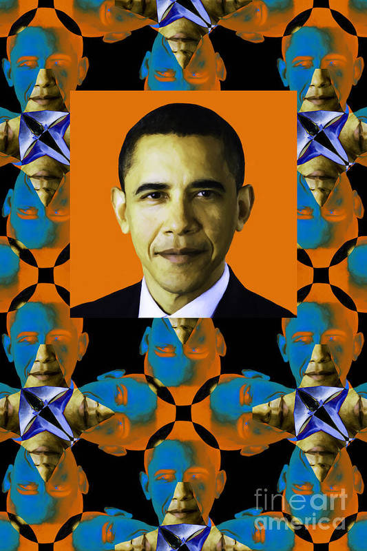 Politic Poster featuring the photograph Obama Abstract Window 20130202verticalp28 by Wingsdomain Art and Photography