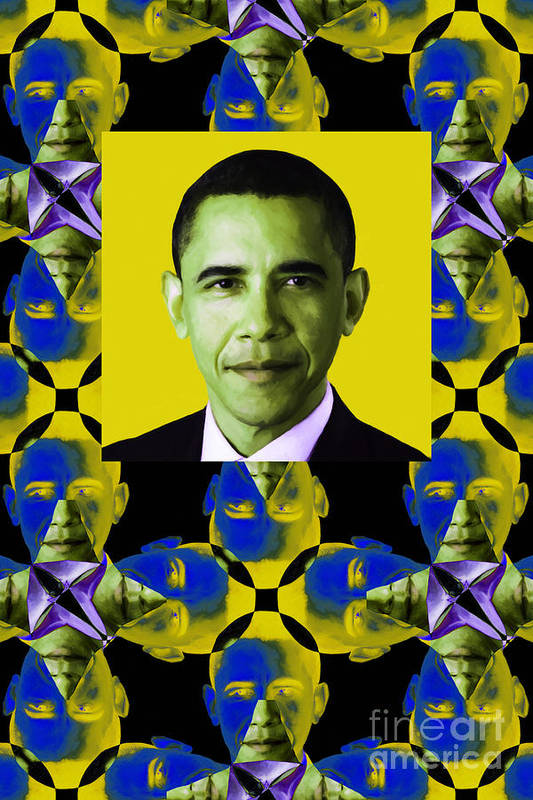 Politic Poster featuring the photograph Obama Abstract Window 20130202verticalp55 by Wingsdomain Art and Photography