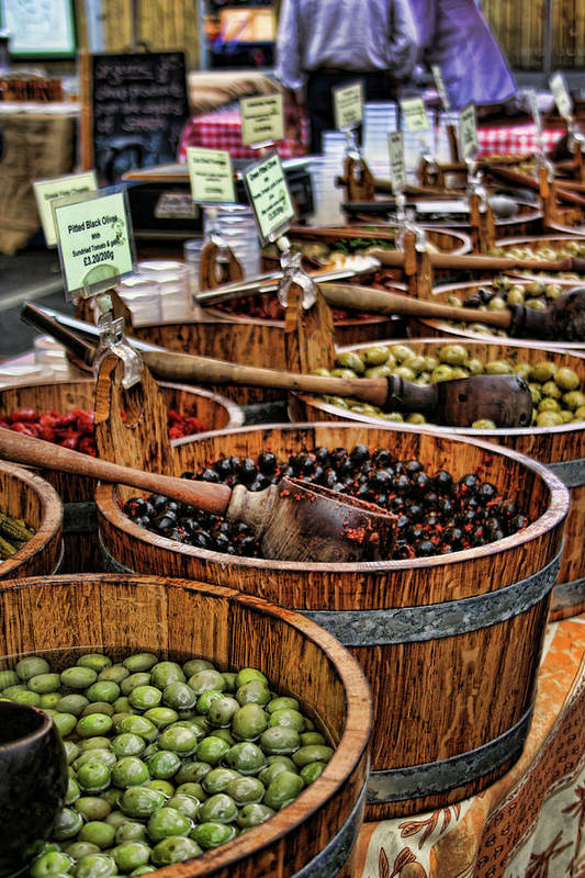 Olives Poster featuring the photograph Olives by Heather Applegate