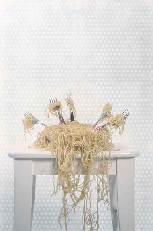 Spaghetti Poster featuring the photograph Pasta For Five by Joana Kruse