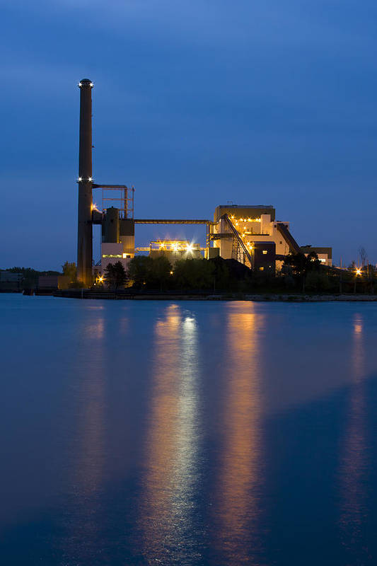 3scape Photos Poster featuring the photograph Power Plant by Adam Romanowicz