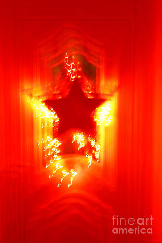 Christmas Poster featuring the photograph Red Christmas Star by Gaspar Avila